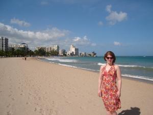 On my honeymoon in San Juan, Puerto Rico, November 2006