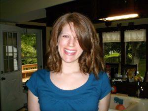 Sporting a new hair cut, June 2008