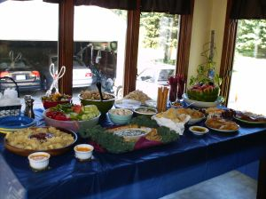 The buffet we had at my husband\'s 30th b-day this weekend. Satisfaction guaranteed...or gluttony?!