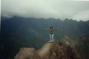 "On top of the world"" at the highest peak of Huyana Picchu"