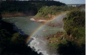 August '99, a pic I took of a rainbow over Iguazu Falls (Argentina)