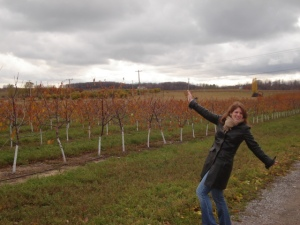 Winery in Traverse City, Mich. (Nov. 2007) on our anniversary trip