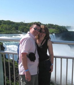My husband and I at Niagara Falls