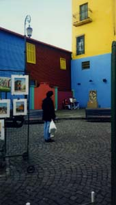 I took this photo of a random man in La Boca, Bs. As., in July, 1999.