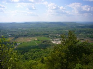 View of Vernon from The Cliffs, part of App. Trail