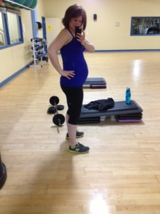 24 Weeks (June 20, 2013) pre-Body Pump class